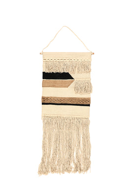 Grey Aztec Tassel Wall Hanging