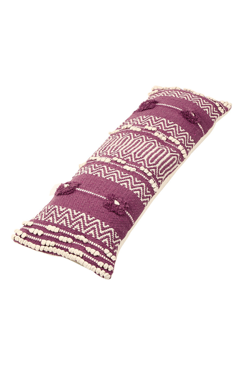 Purple Aztec Stripe Rectangle Cushion