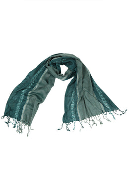 Metallic Panels Colour Stripe Scarf