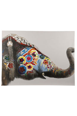 Elephant Oil Painting Canvas