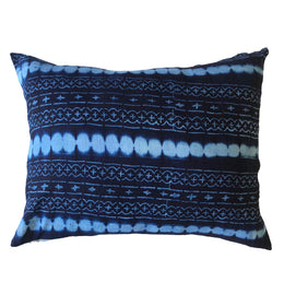 Authentic Indigo Mudcloth Cushion Large