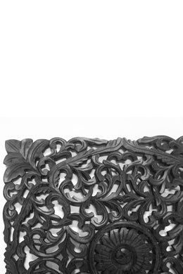 Matte Black Rotu Carved Wall Panel