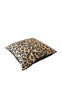 Leopard Bush Brown Cushion