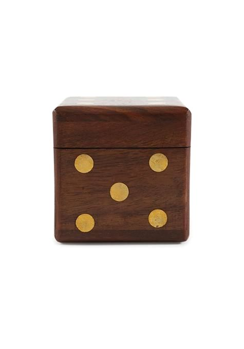 5 Dice Sheesham Box
