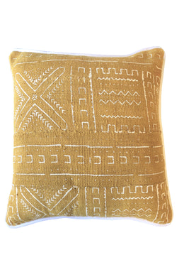 Authentic Gold Mudcloth Cushion