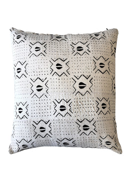 Authentic White Mudcloth Cushion Medium
