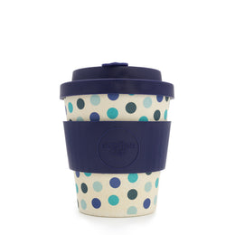 Ecoffee Cup 'Blue Polka' 8oz/250ml