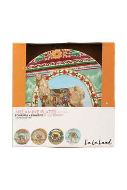 Powerful & Primitive Melamine Plate Set
