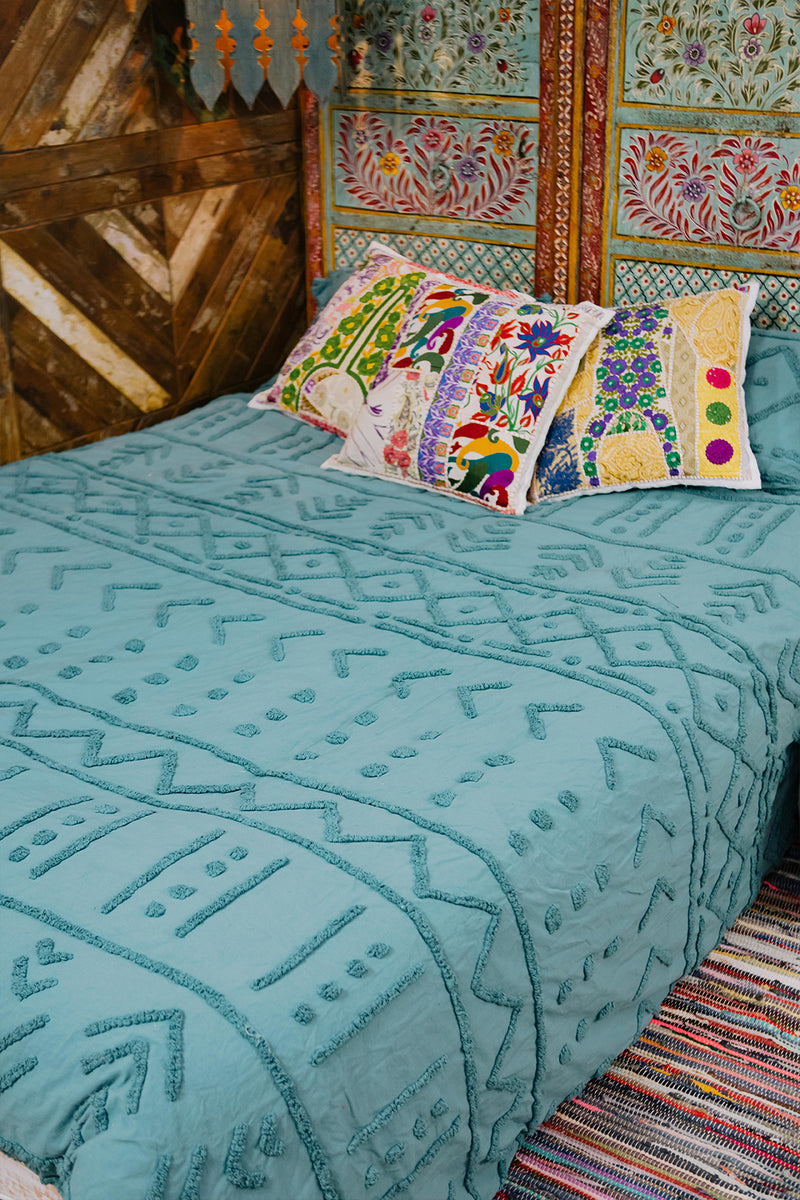 Adeline Chenille Quilt Cover Set - Queen