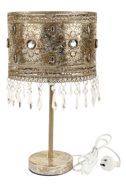 Roma Golden Metal Table Lamp