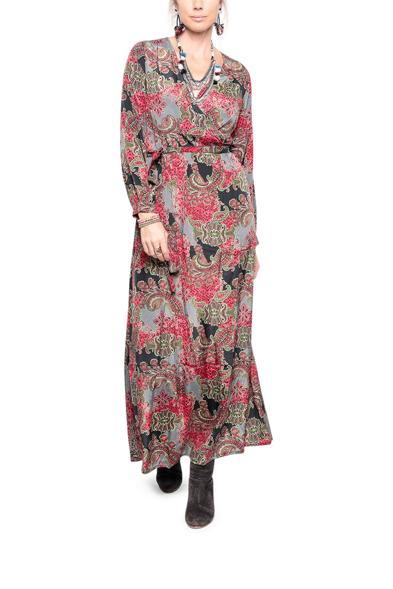 Red Paisley Maxi Dress