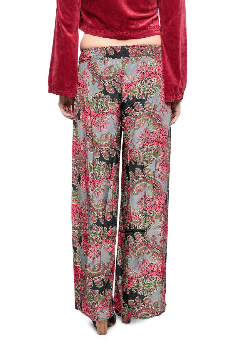 Wide Leg Paisley Pants