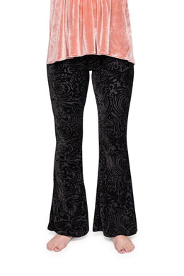 Burnout Velvet Bell Bottom Pants