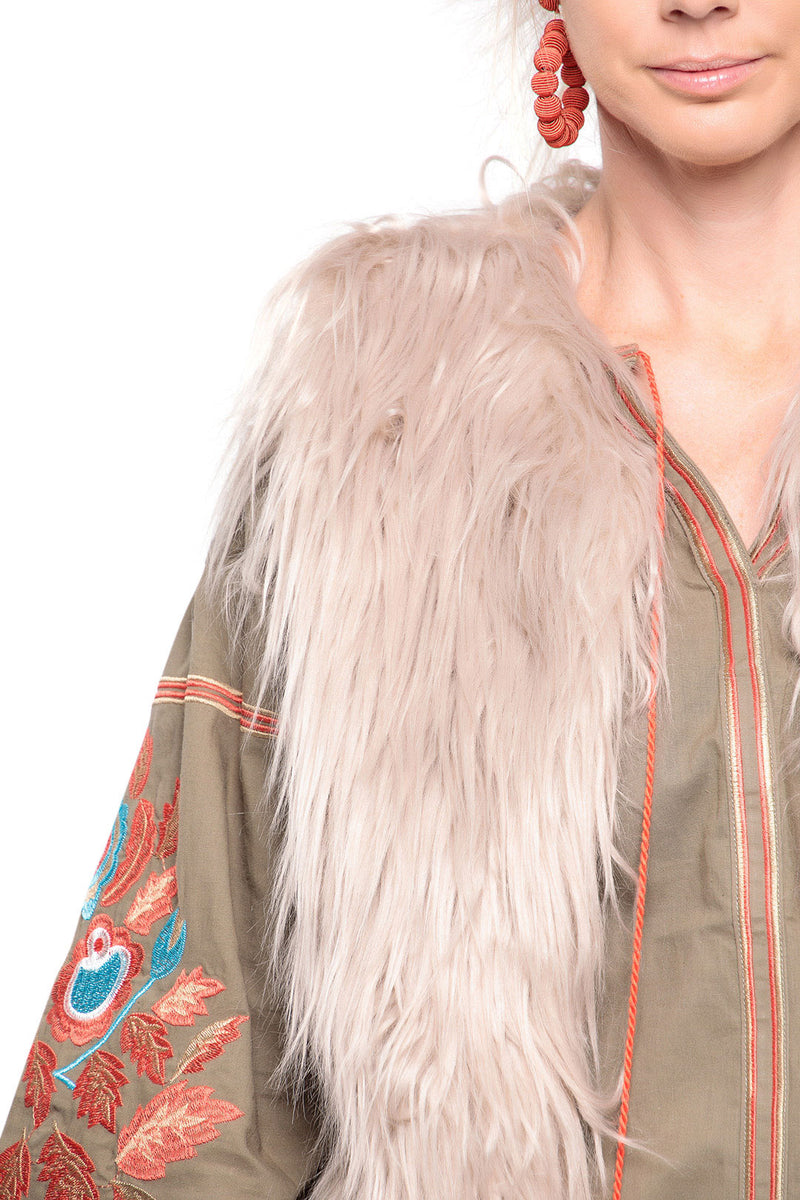 Natural Yetti Vest Jacket
