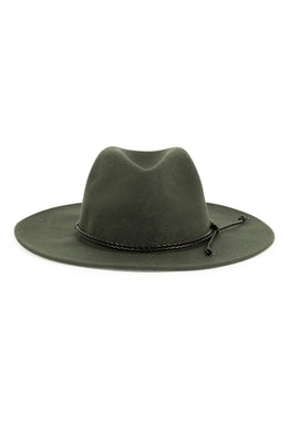 Rope Trim Wool Felt Hat