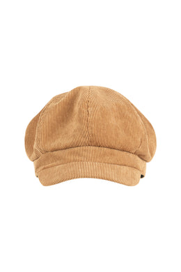 Tan Corduroy Baker Boy Hat