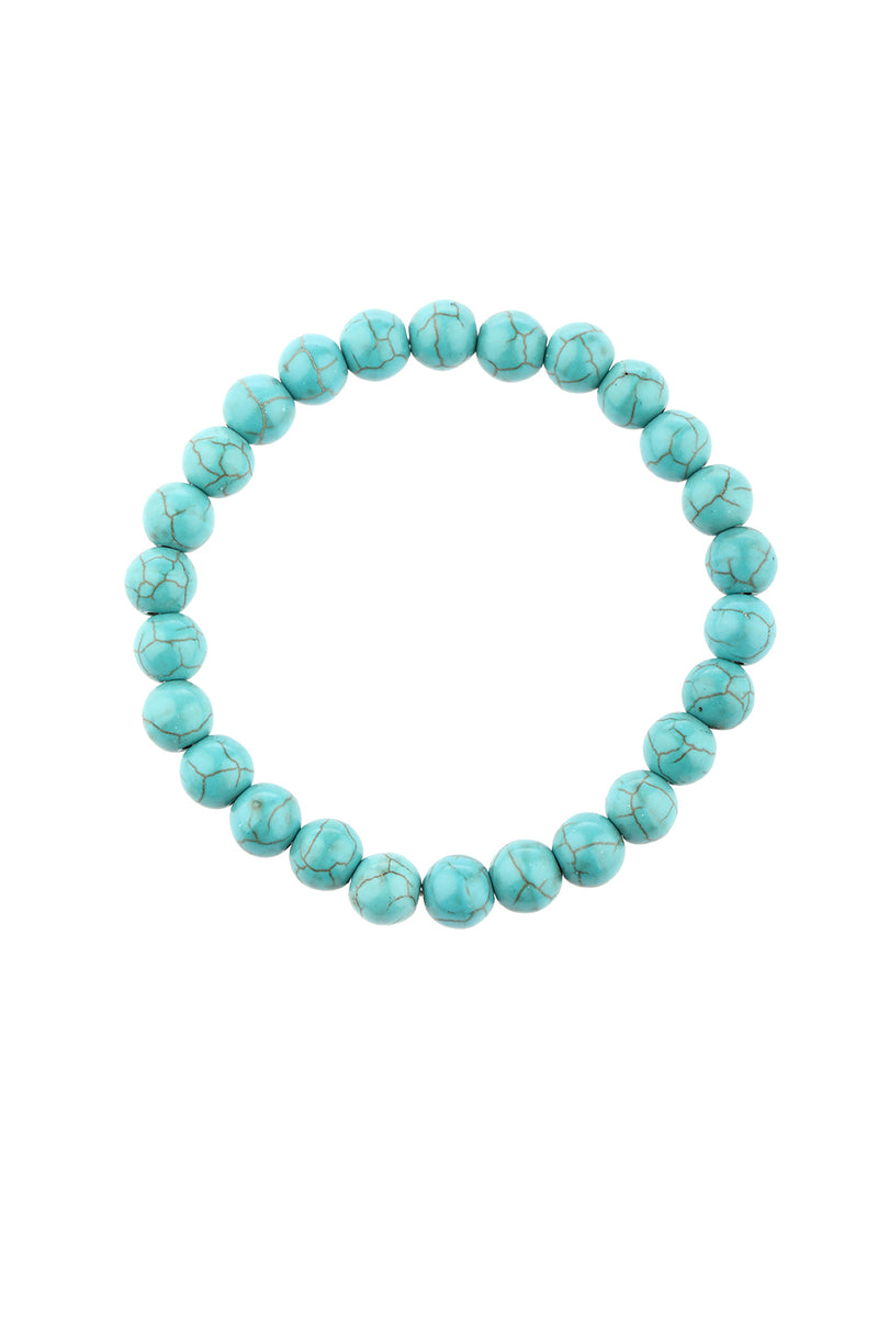 Gemstone Beaded Bracelet - 8mm