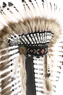 Black & White Full-Length War Bonnet