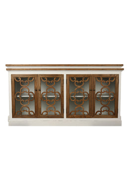 Fretwork Four Door Timber Cabinet