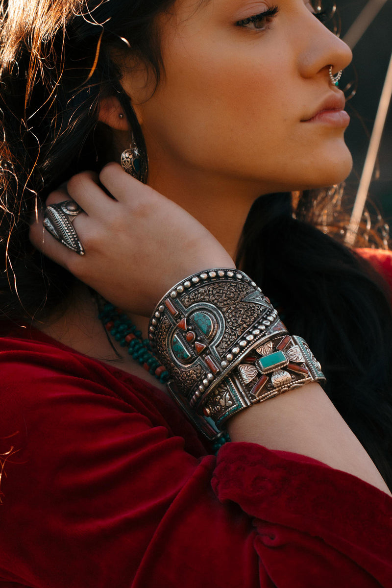 Traditional Tibetan Statement Bracelet