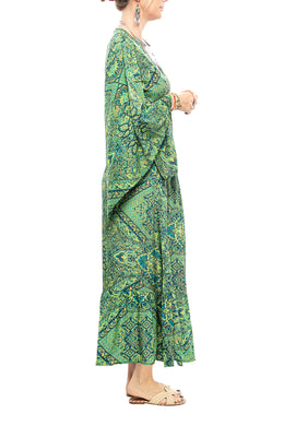 Paisley Wrap Maxi Dress