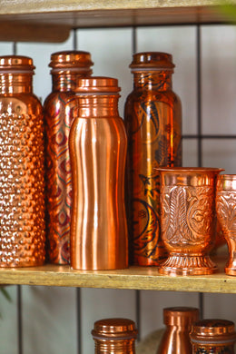 Curvy Copper Water Flask