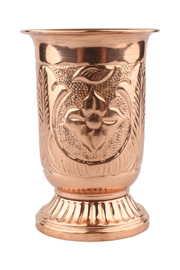 Emblem Engraved Copper Goblet