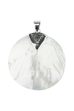 Mother of Pearl Jawan Geplak Silver Pendant
