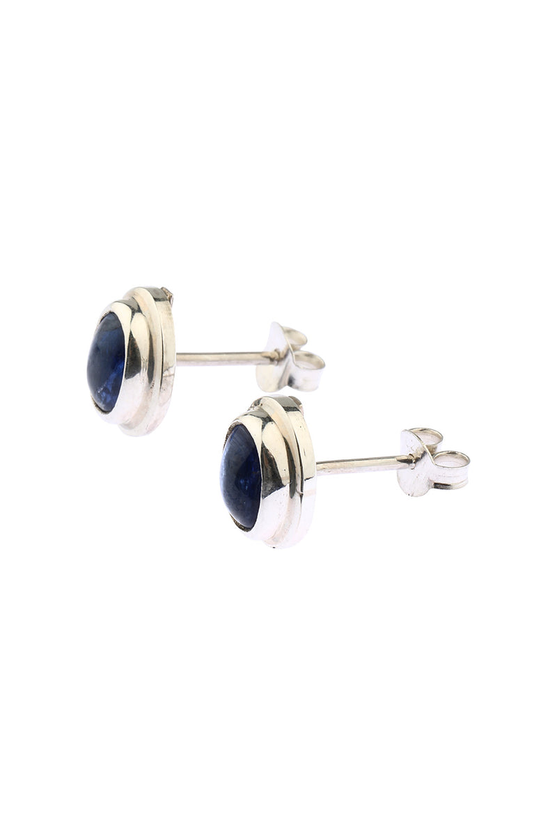 Oval Kyanite Stud Earrings