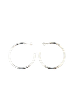 Everyday Hoop Silver Earrings