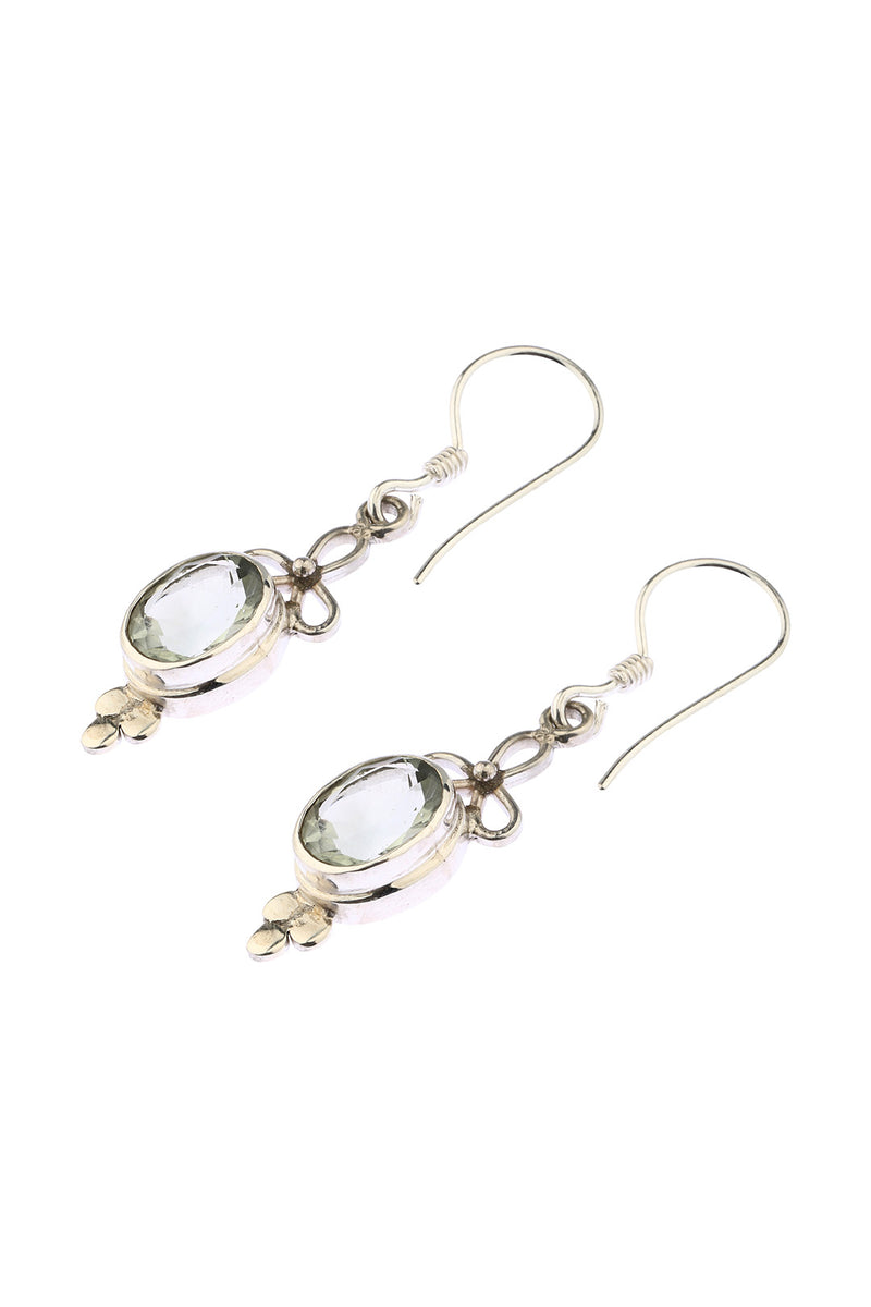 Green Amethyst Droplet Earrings