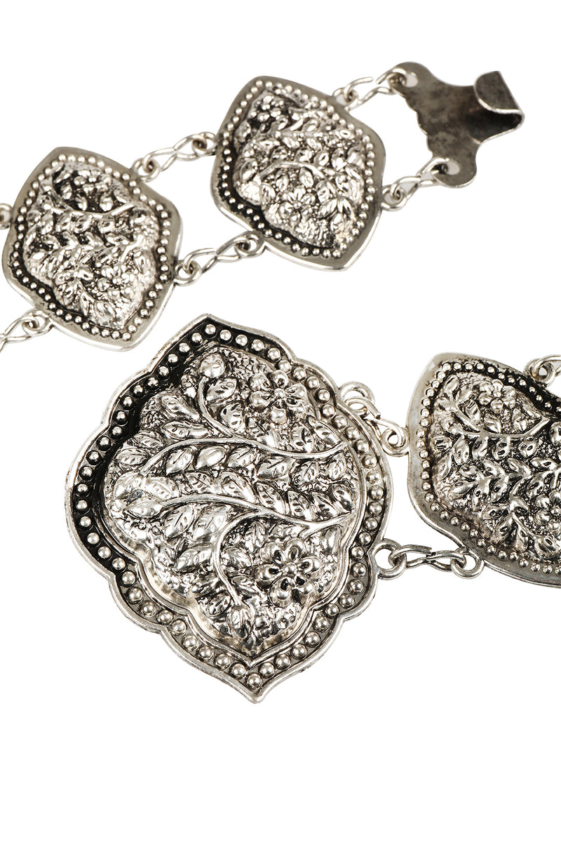 Floral Medal Links Metal Festival Belt