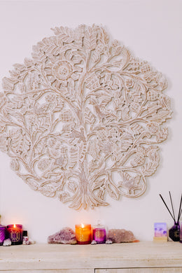 Round Frameless Tree of Life Wall Art