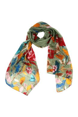 Assorted Long Silk Scarf