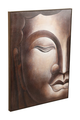 Silver Buddha Oil Painting Canvas