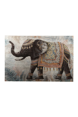 Animal Sequins Print Canvas
