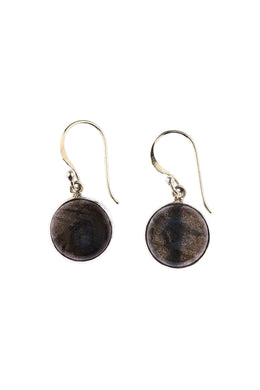 Simple Round Labradorite Earrings