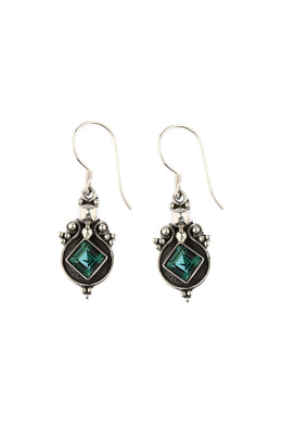 Balinese Green Quartz Earrings