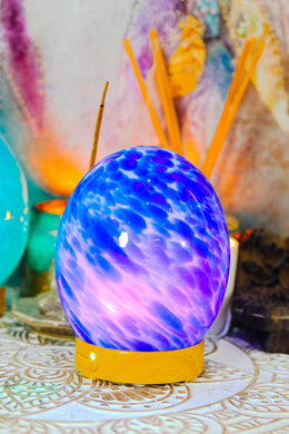 Blue Glass Orb Electric Diffuser