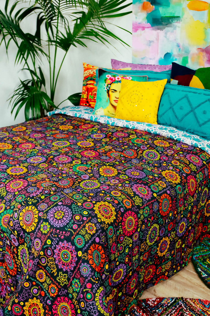 Assorted Indian Kantha Tagai Bedspread - Thick