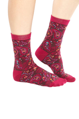 Assorted Midi Womens Paisley Socks