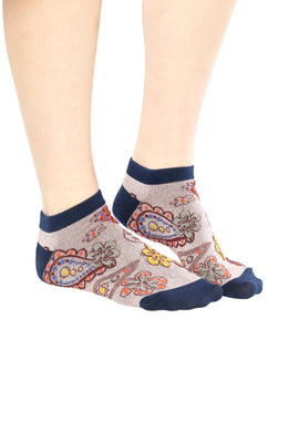 Assorted Paisley Womens Ankle Socks