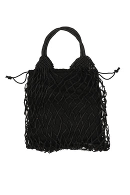 Waxed Net Weave Shoulder Bag