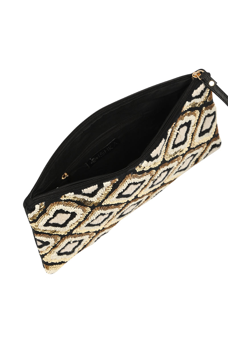 Woven Glam Clutch