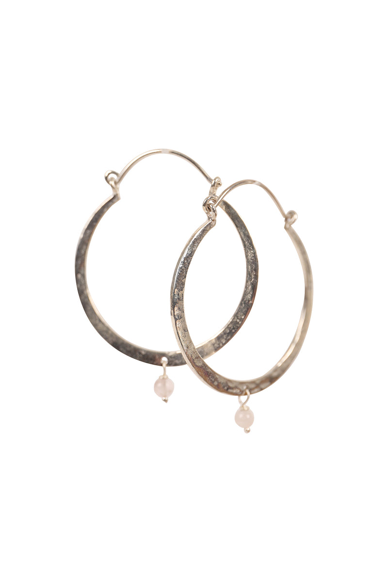 Irregular Hoop Silver Earrings