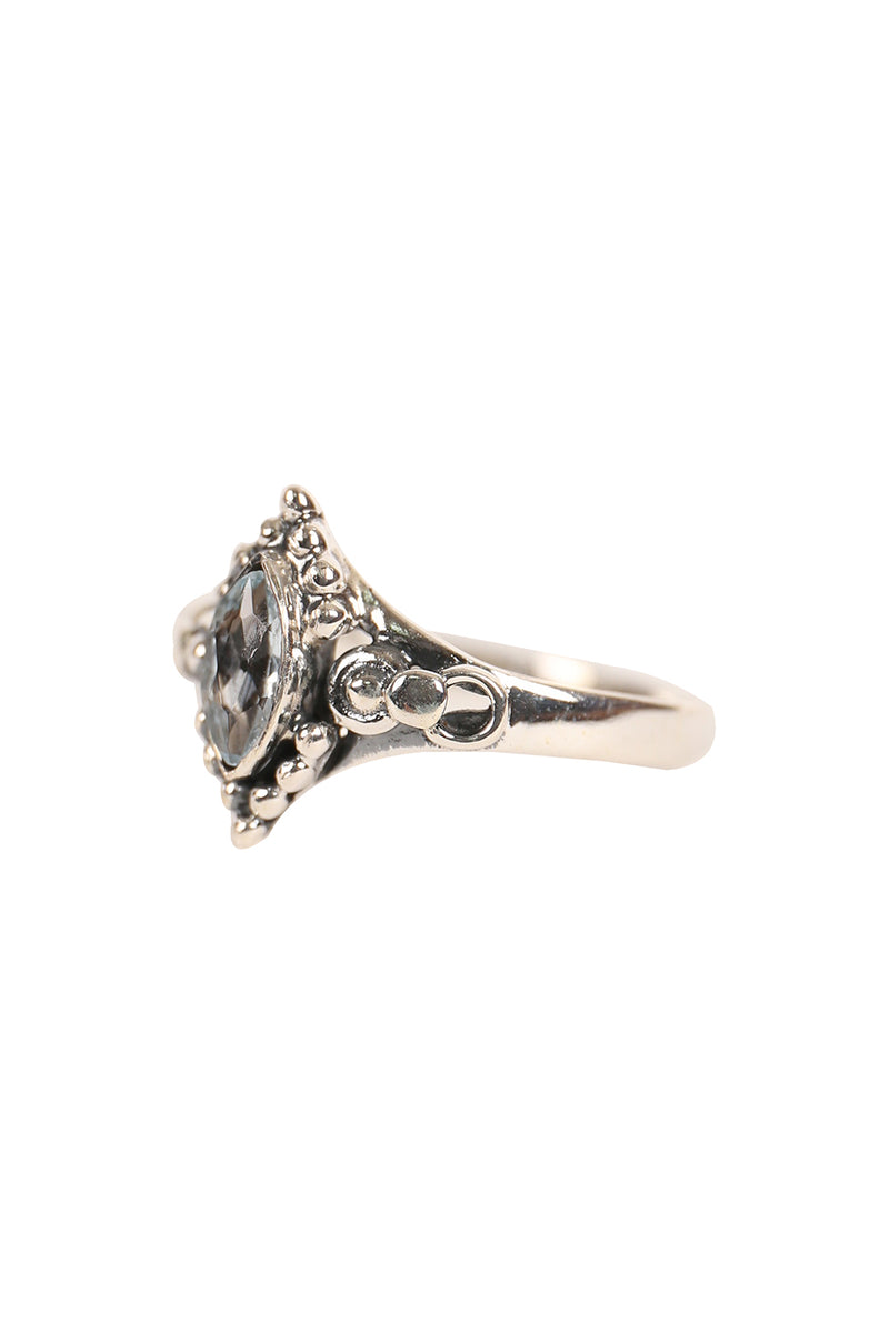 Fine Marquise Tribal Silver Ring