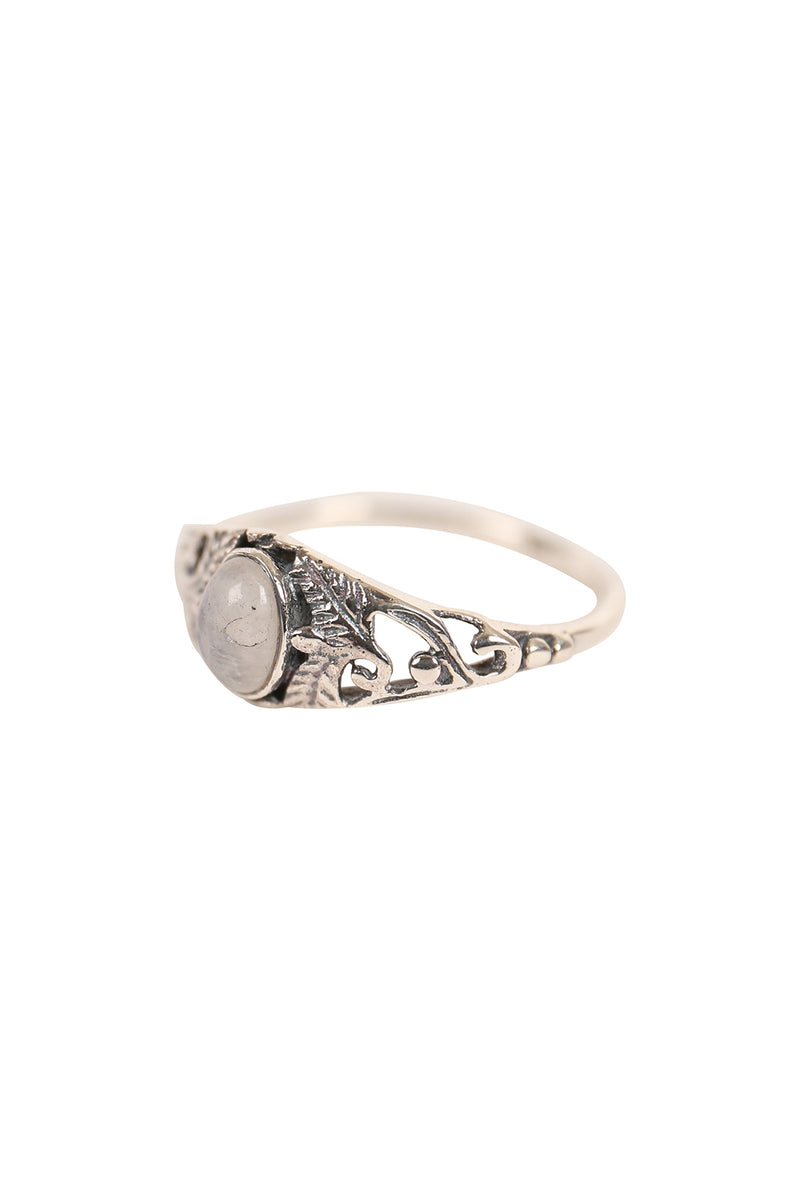 Filigree Feathers Silver Ring