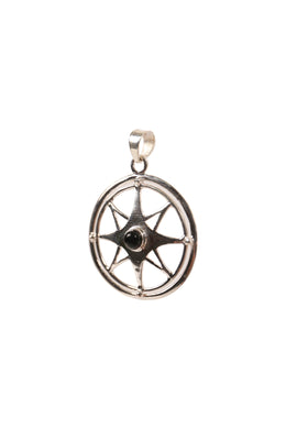 Black Onyx Star Guide Silver Pendant