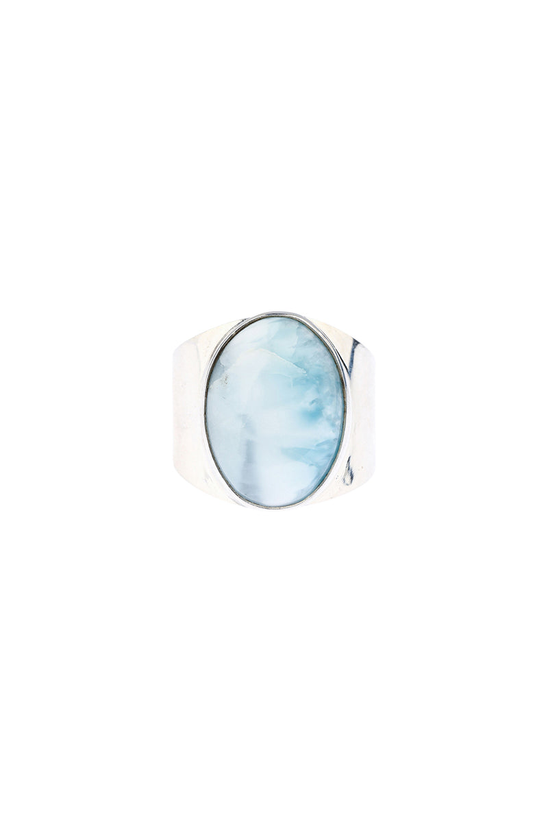 Larimar Simple Statement Silver Ring