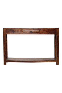 Tier Walnut & Acacia Console Table